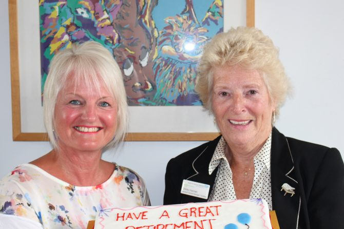 Shirley bows out of 57 years' service