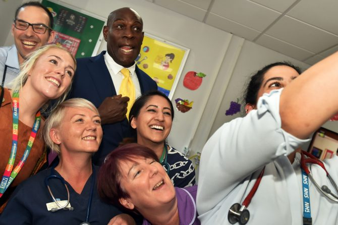 Boxing legend Frank Bruno proves a 'knockout' success at BRI