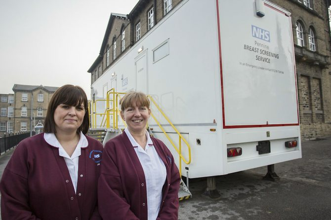 Breast screening programme inviting women from Keighley area