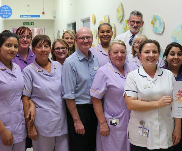 The Stroke Multi-Disciplinary Team receive their Team of the Month award