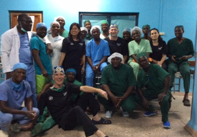 Consultant helps introduce surgical technique to West African doctors