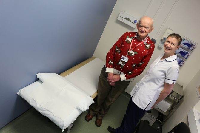 Physiotherapy treatment rooms receive makeover thanks to volunteers