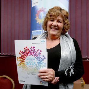 Gail Harney - runner-up in the Excellence in Collaboration category at the 2018 Brilliant Bradford awards