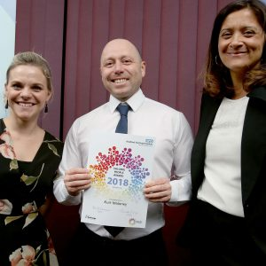 Kurt Maloney - runner-up in the Valuing People Award at the 2018 Brilliant Bradford Staff Awards