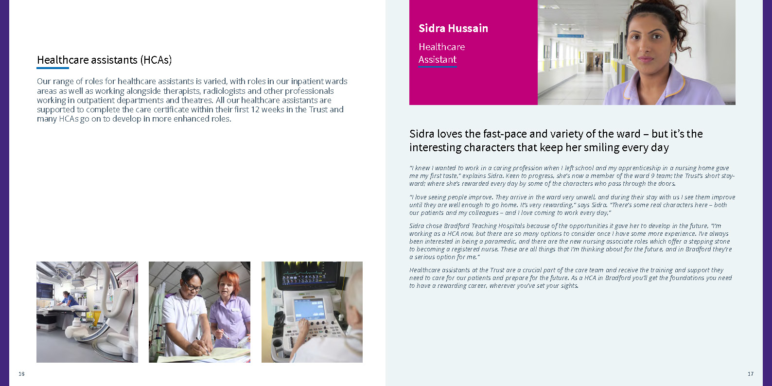 Recruitment brochures – Bradford Teaching Hospitals NHS