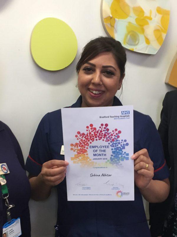 Sabina Akhta Jan 2019 Employee of the Month