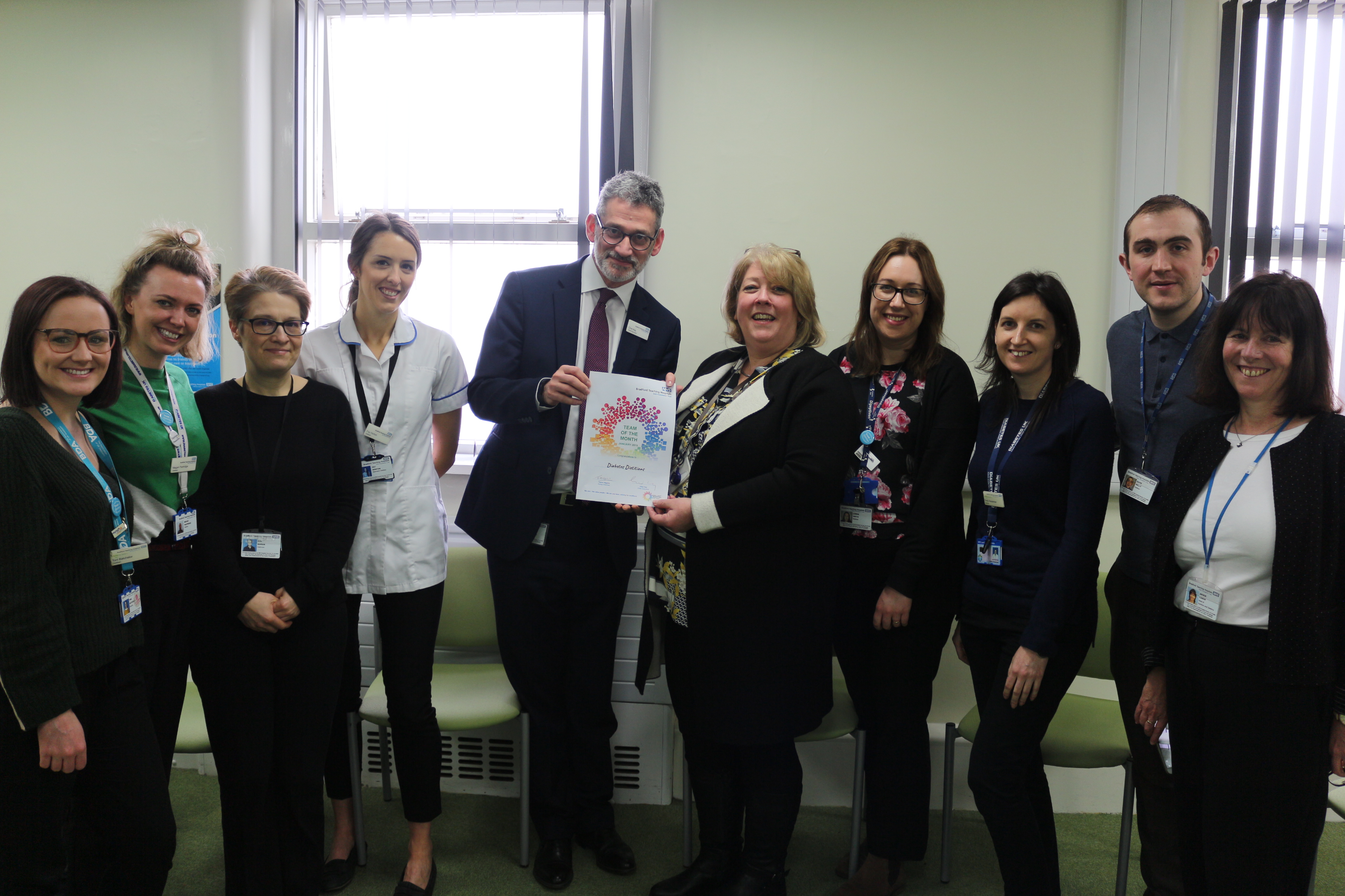 The Diabetes Dietitian Team - Team of the Month for January 2019
