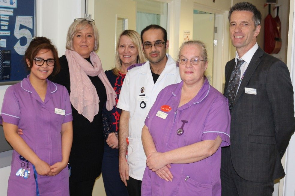March Team of Month award - winter ward for Care of the Elderly