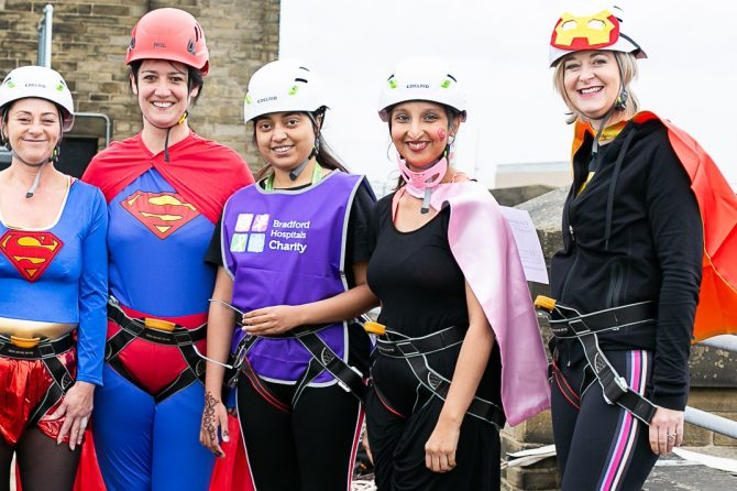 50 fearless fundraisers set to take part in our superhero abseil down BRI