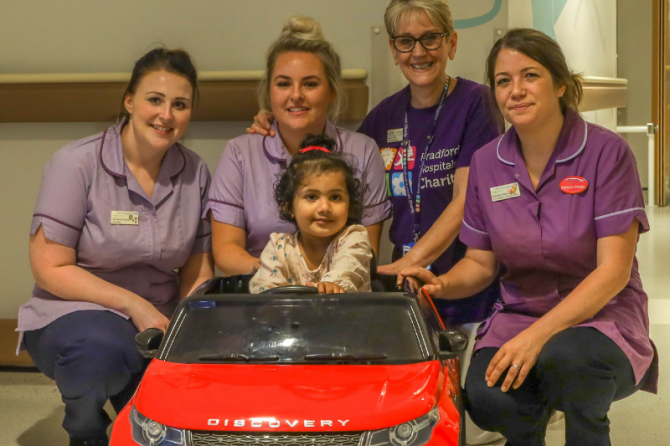 Children's unit changes gear thanks to donation of a mini electric car