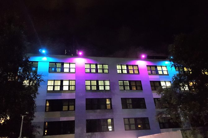 Bradford Royal Infirmary lights up to mark Baby Loss Awareness Week
