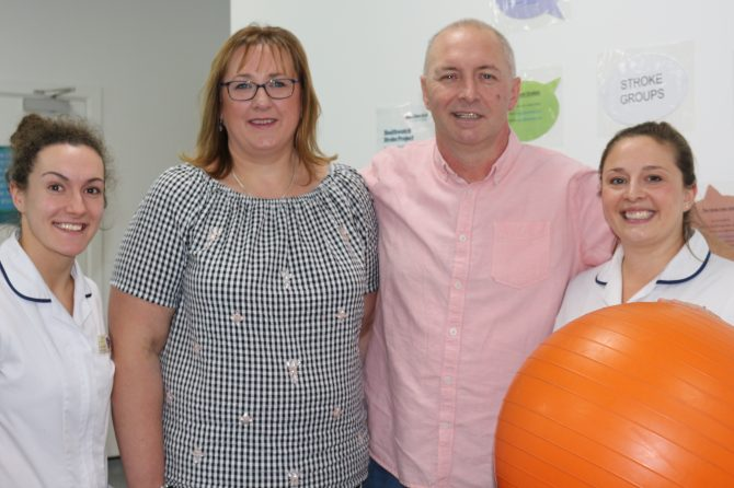 Stroke patient raises £1,300 to say thank you following amazing recovery