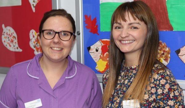 ACE community nursing team leaders Emma Morrision (L) and Eve Malam