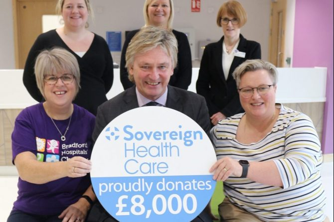 Sovereign Health Care donates £8,000 to Bradford Teaching Hospitals