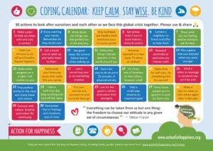 30 activities - Coping calendar