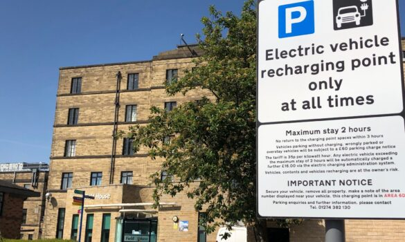 Electric vehicles are welcome at Bradford Teaching Hospitals
