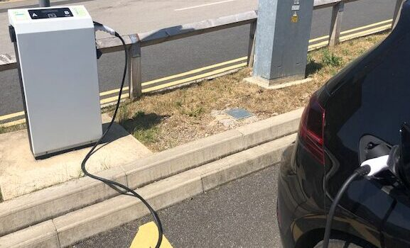 Electric vehicle recharging point, Bradford Royal Infirmary