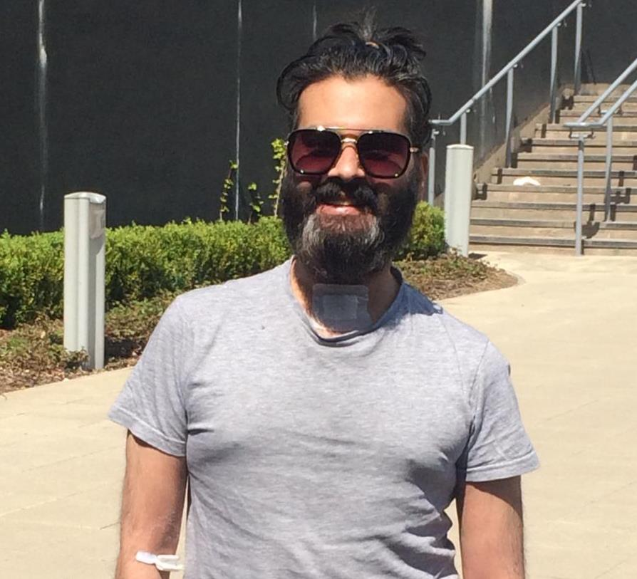 Khurram Khan following his release from BRI after battling Covid-19