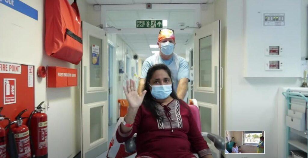 Nurse Associate Susamma Mathai leaves BRI after beating Covid-19