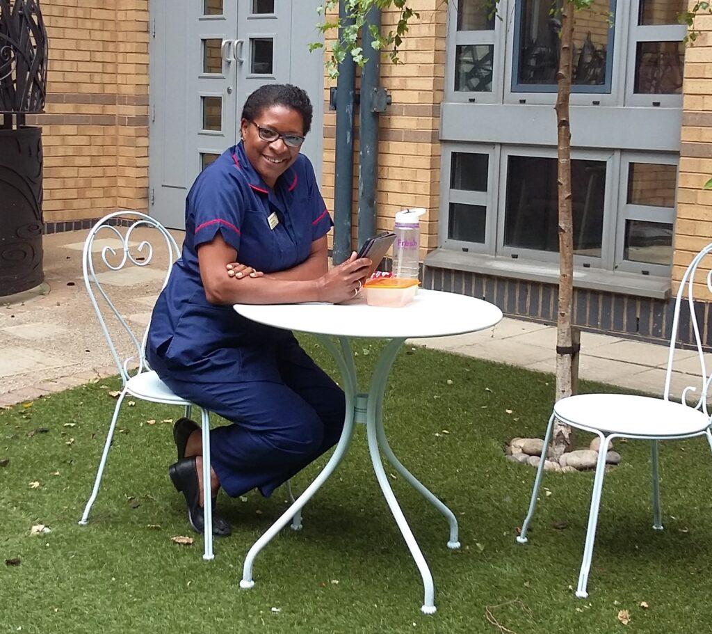 St Luke's Hospital wellbeing garden nurse Christine Kelly