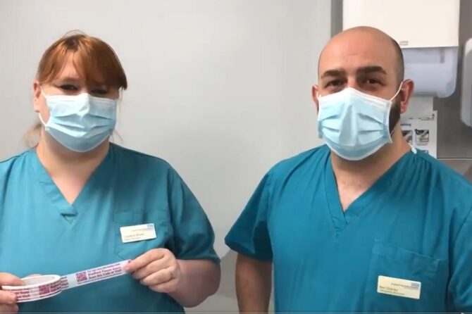 Cracking idea from Trust's Plaster Technicians to boost cast care