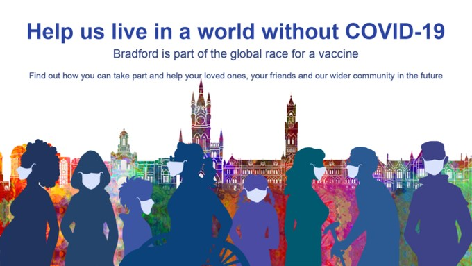 Help us live in a world without Covid-19 poster