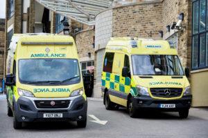 Ambulances outside BRI A&E