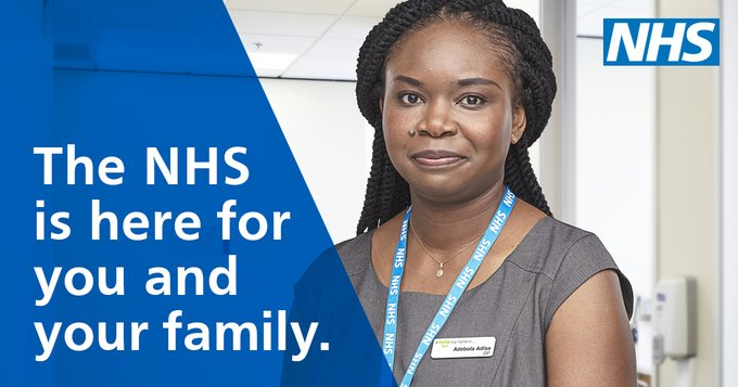 NHS is here for you and your family graphic