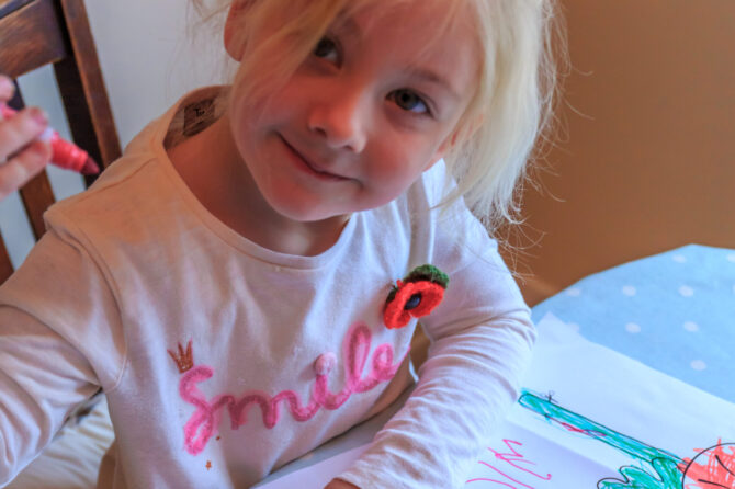 Children draw poppies to help hospitals mark Remembrance Day
