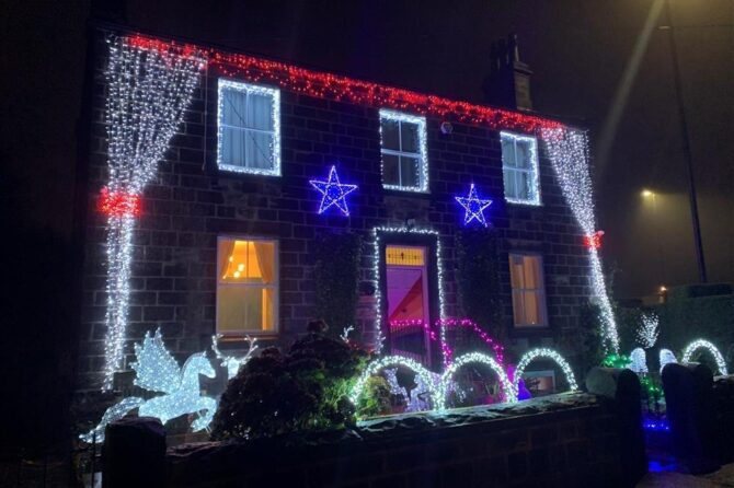 Doctors spread festive cheer with Christmas lights show