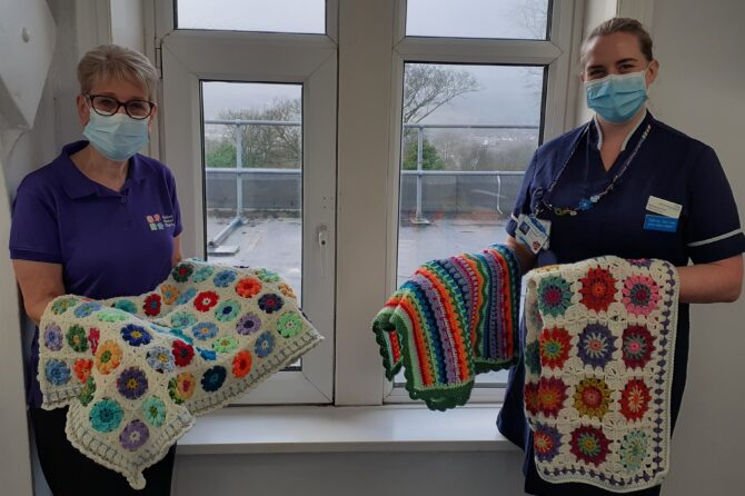Kind-hearted crafter cheers up elderly care wards with comforting donation