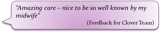 maternity feedback quote