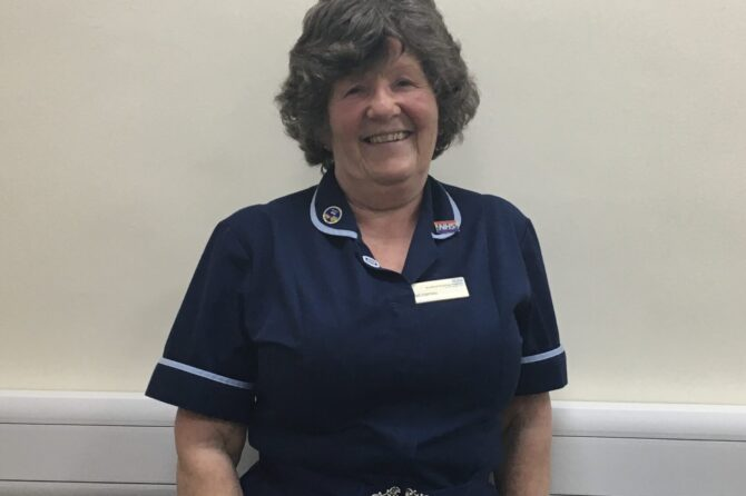 Nurse Gail retires after an amazing 50 years' service to Bradford