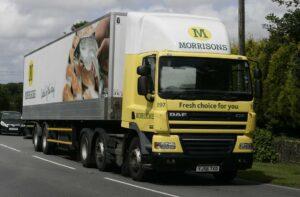 Morrisons' lorry