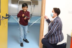 Muhammad Subhaan opens the new 'Changing Places' facility at St Luke's Hospital with CEO Mel Pickup