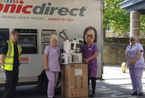 Sonic Direct donates electrical goods to St Luke's Hospital during the pandemic