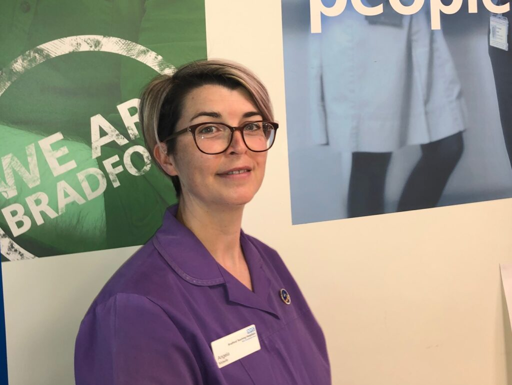 Labour Ward Midwife and Deputy Manager Angela McMillan