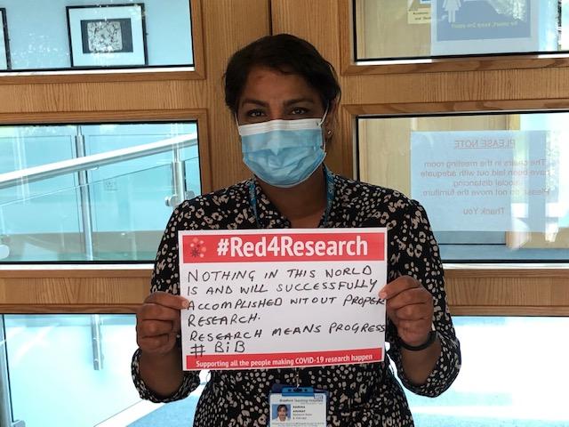 Research Sister Samina Ashraf