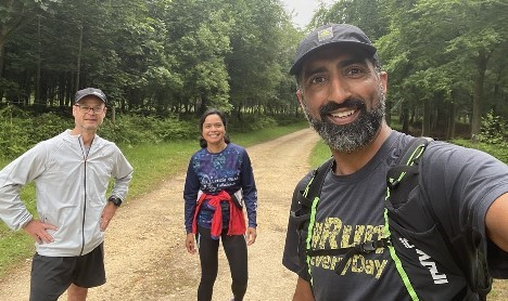 NHS runners take on 24-hour race for hospitals' charity