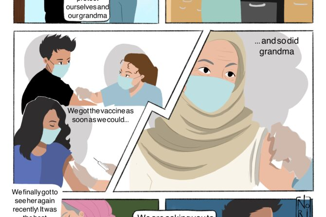 Comic strips capture COVID vaccine experience of young people