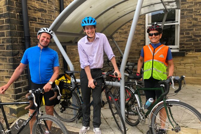 Staff highlight the benefits of pedal power on national Cycle to Work Day!