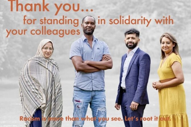 Leaders and communities unite at launch of anti-racism movement