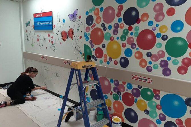 Top Bradford artist adds splash of colour to St Luke's Hospital